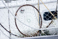 Sequedad de la red de pesca Foto de archivo libre de regalías