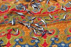 Sequedad de los pescados Pequeñas sardinas La India del sur Foto de archivo
