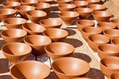 Sequedad del dishware de Maroccan antes de asar Fotografía de archivo libre de regalías