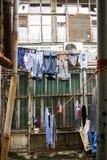 Sequedad del lavadero del patio trasero en Baku Fotografía de archivo