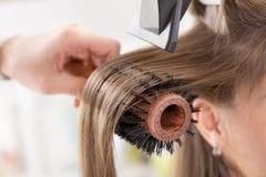 Sequedad del pelo. Foto de archivo
