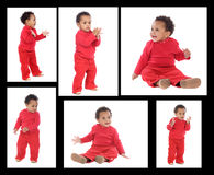 Sequence of a african baby standing Royalty Free Stock Photos