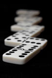 Sequence of dominoes pieces. Royalty Free Stock Photos