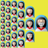 Sequence girls face Royalty Free Stock Photo