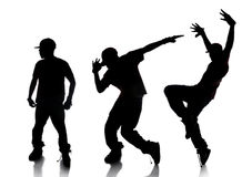 Sequence of Hip Hop Dancer Royalty Free Stock Photos