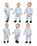 Sequence of little baby isolated Royalty Free Stock Photos