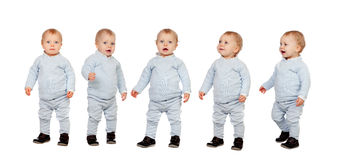 Sequence of little baby Royalty Free Stock Photos