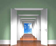 Sequence of the open doors to heaven. Royalty Free Stock Photos