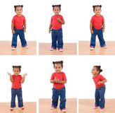 Sequence of photos of a little African girl Royalty Free Stock Images