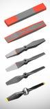 Sequence of propeller creation Stock Photos