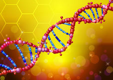 Sequence shiny of a DNA molecule. Concept of scientific vector abstract background Stock Image