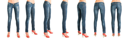 Sequence of woman legs Stock Images
