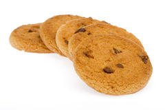 Sequential cookie. Enjoy the evening over tea time cookie chocolate Stock Photos