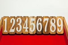 Sequential number Stock Image