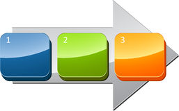 Sequential steps business diagram Royalty Free Stock Photography