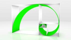 Sequenza 3D del Fibonacci Fotografia Stock
