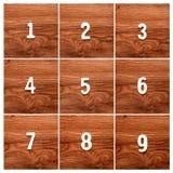 Sequenza dei numeri sulla tavola Fotografia Stock