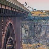 Sequenza di Backflip in un salto basso Fotografie Stock Libere da Diritti