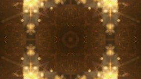Sequenza di ciclaggio variopinta del caleidoscopio Fondo astratto dei grafici di moto video d archivio