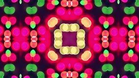 sequenza di ciclaggio variopinta del caleidoscopio 4K Fondo astratto dei grafici di moto video d archivio