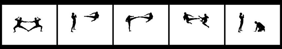 Sequenza di combattimento di Kung Fu Immagini Stock Libere da Diritti