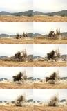 Sequenza di scoppio Fotografia Stock