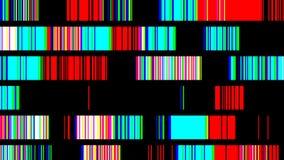 Sequenza variopinta infiammante sulle linee a caso muoventesi illustrazione di stock