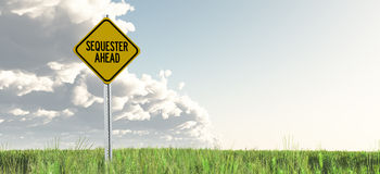 Sequestration Ahead Stock Image