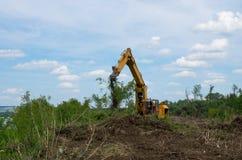 Sequestro di terreno forestale per agricoltura Distruzione delle foreste Immagine Stock