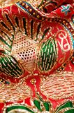 Sequin embroidery royalty free stock photo