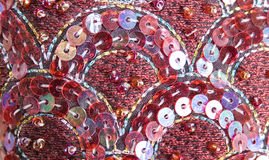 Sequin embroidery Stock Image