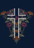 Sequin and embroidery cross design stock illustration