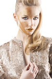The sequin glittering creative make up girl, Stock Image