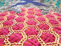 Sequin indian pattern fabric detail Stock Photography