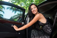 Sequin lady Royalty Free Stock Image