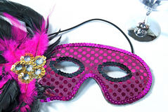 Sequin masquerade mask Stock Photos