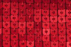 Sequin rosso Immagine Stock