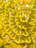 Sequined Floral Design Stock Photography