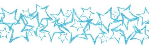 Sequins разбросанные фото в форме звезды граница безшовная Стоковые Фото