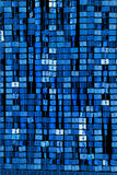 Abstract background of blue sequins Royalty Free Stock Photography