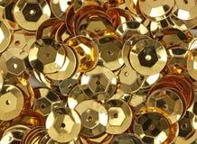 Sequins do ouro Imagens de Stock Royalty Free