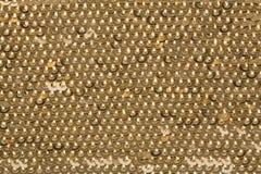 Sequins do ouro Fotos de Stock Royalty Free
