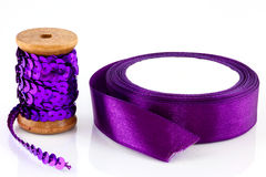 Sequins and ribbon Stock Photo