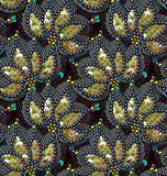 Sequins Seamless Vector Pattern. Without gradient. Multicolor Floral Background Royalty Free Stock Photos