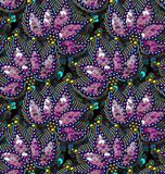 Sequins Seamless Vector Pattern. Without gradient. Multicolor Floral Background Royalty Free Stock Photography