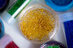 Sequins in tubes makeup Stock Photography