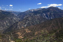 Sequoia national forest. Overview of Sequoia national forest, Fresno California Royalty Free Stock Photo