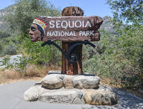 Sequoia National Park Sign Royalty Free Stock Image