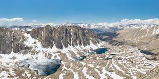 Sequoianationalpark alpin panorama för Lakes fotografering för bildbyråer