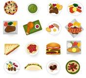 Διεθνή τρόφιμα κουζίνας από ασιατικά σε αμερικανικό και την Ευρώπη ser Στοκ Εικόνες